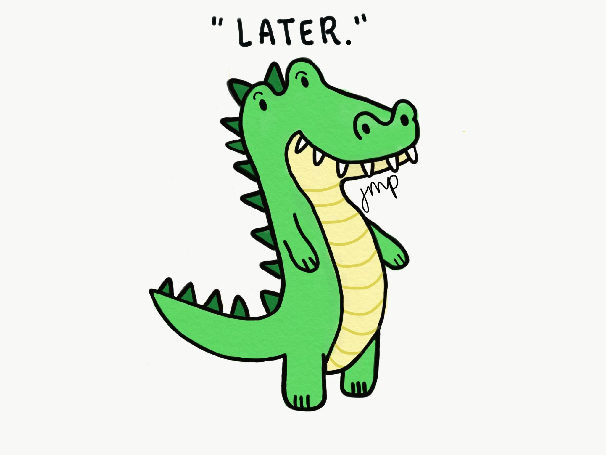Alligator Puns | Alligator, Glossier stickers, Transparent stickers