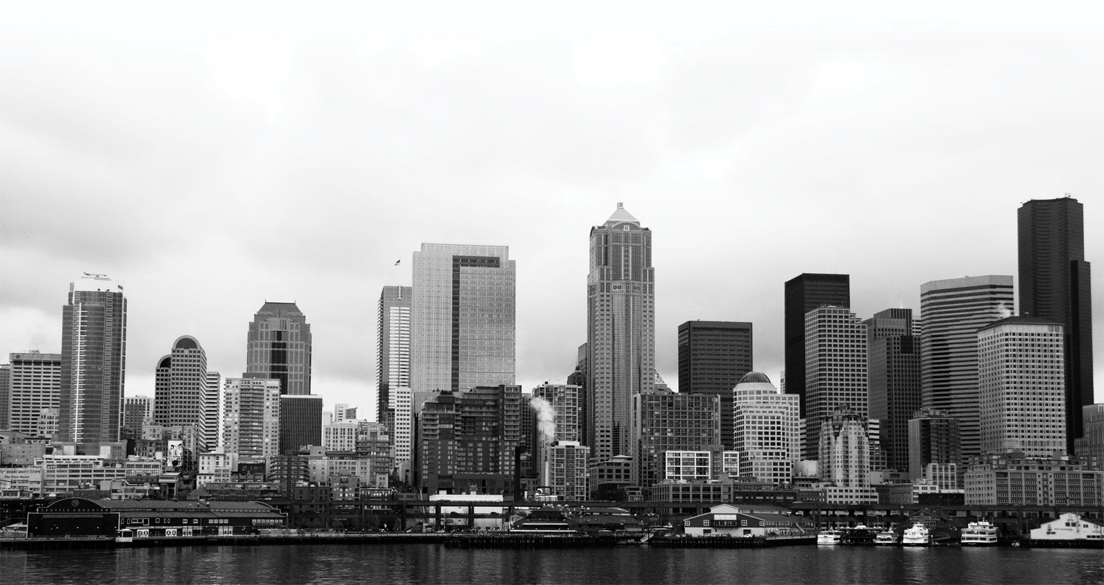 city in background
