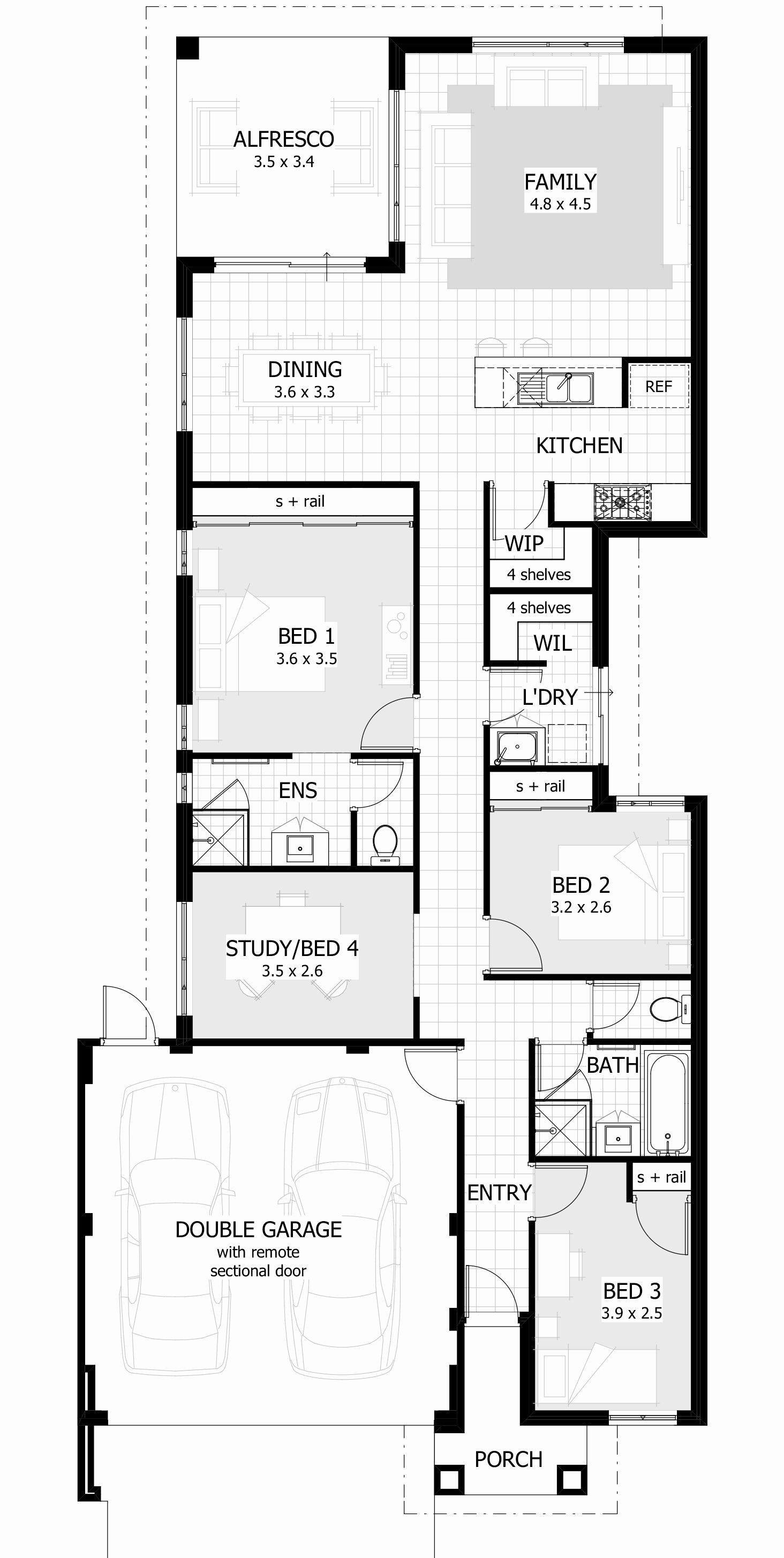 Narrow Lot One Story House Plans Narrow House Plans House Plans Australia Single Storey House Plans
