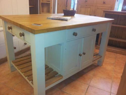kitchen island unit solid pine with 5ft oak  kitchen island unit solid pine with 5ft oak top unfinished   rooms      rh   pinterest co uk