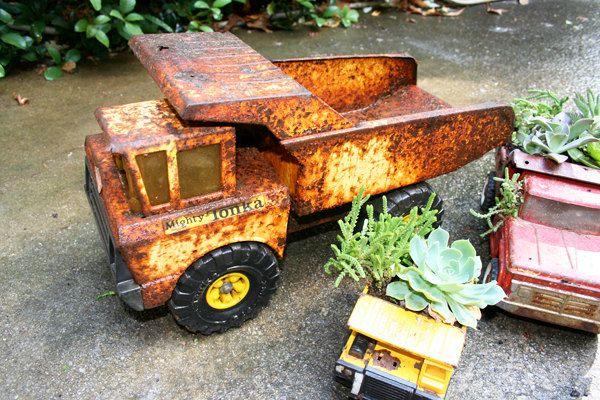 re-purposed tonka trucks