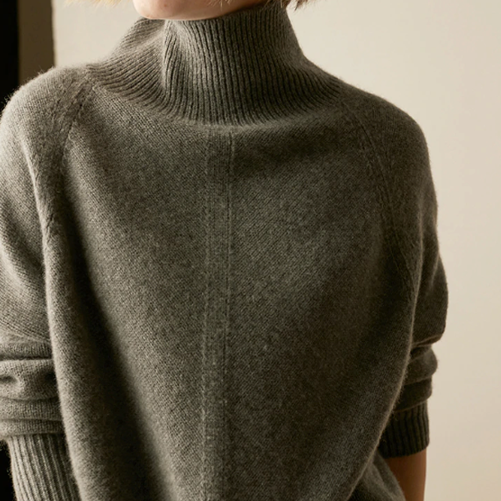 Turtleneck Sweater - Cashmere Casual Pullover