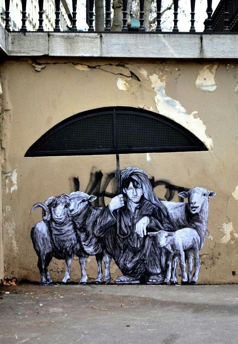 Street Art By Levalet Located In Paris France Street Art - Spanish street artist transforms building facades into amazing artworks