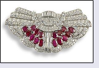 Diamante y rubí joyas antiguas
