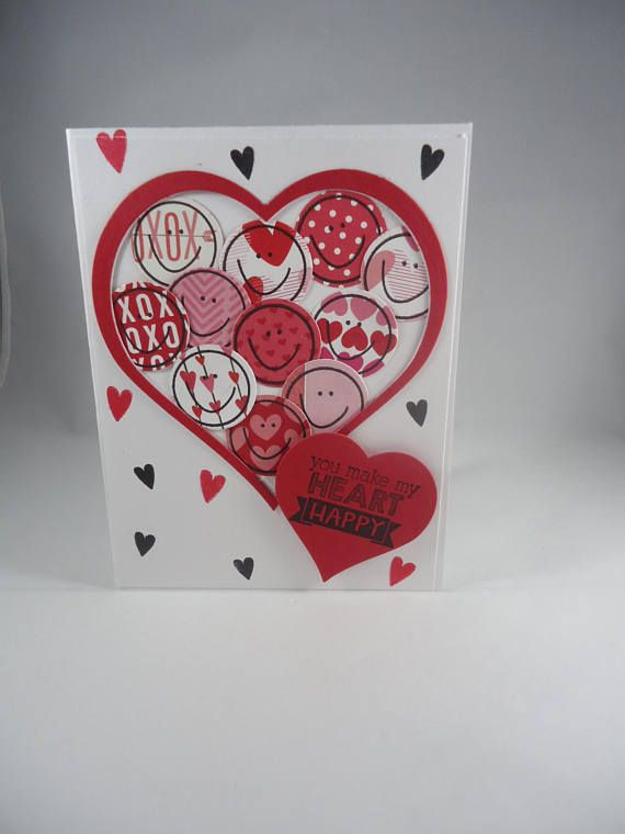 You Make My Heart Happy Valentine S Day Handmade Card Just For U