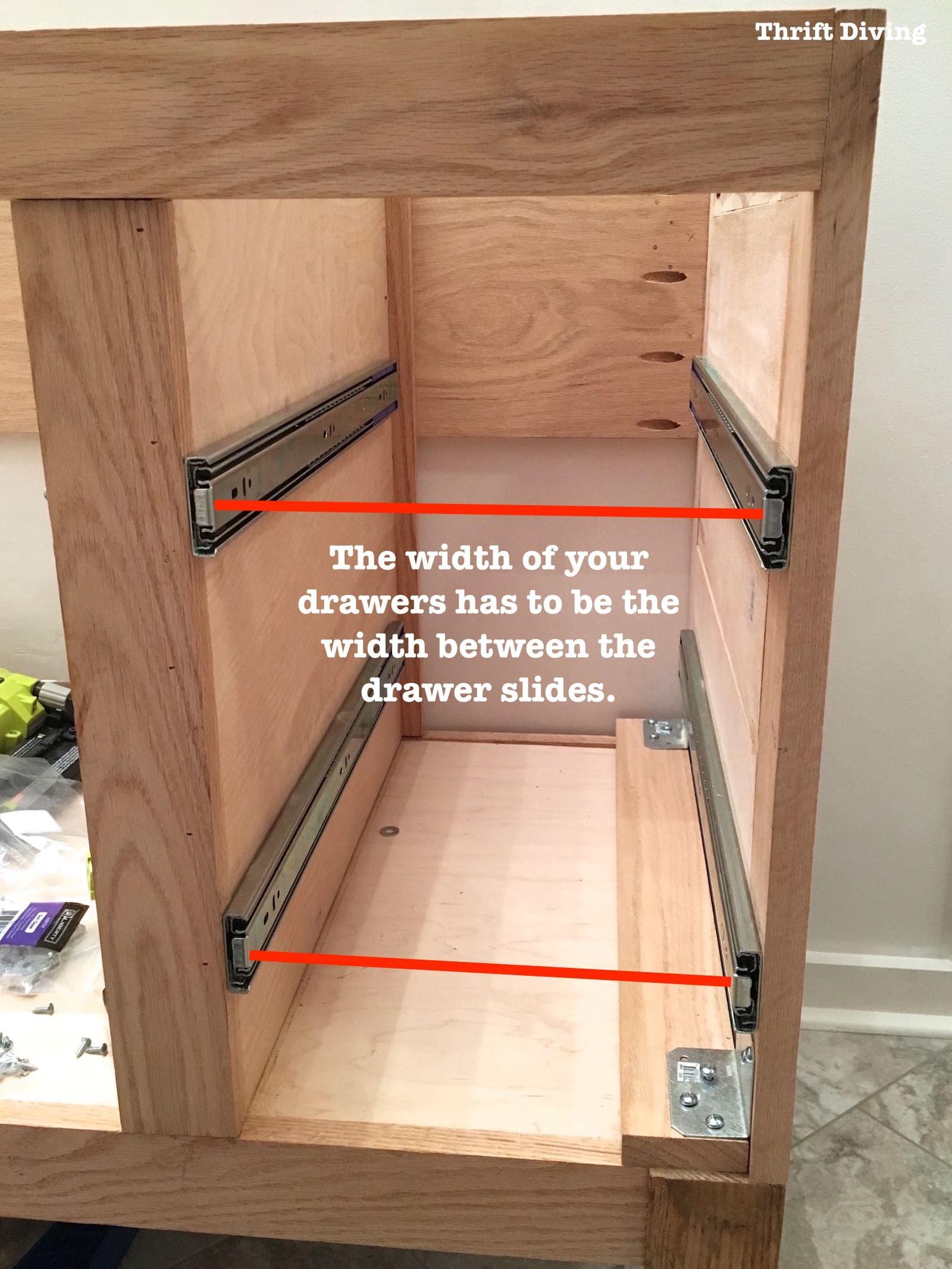 Build A Diy Bathroom Vanity Part 4 Making Drawers