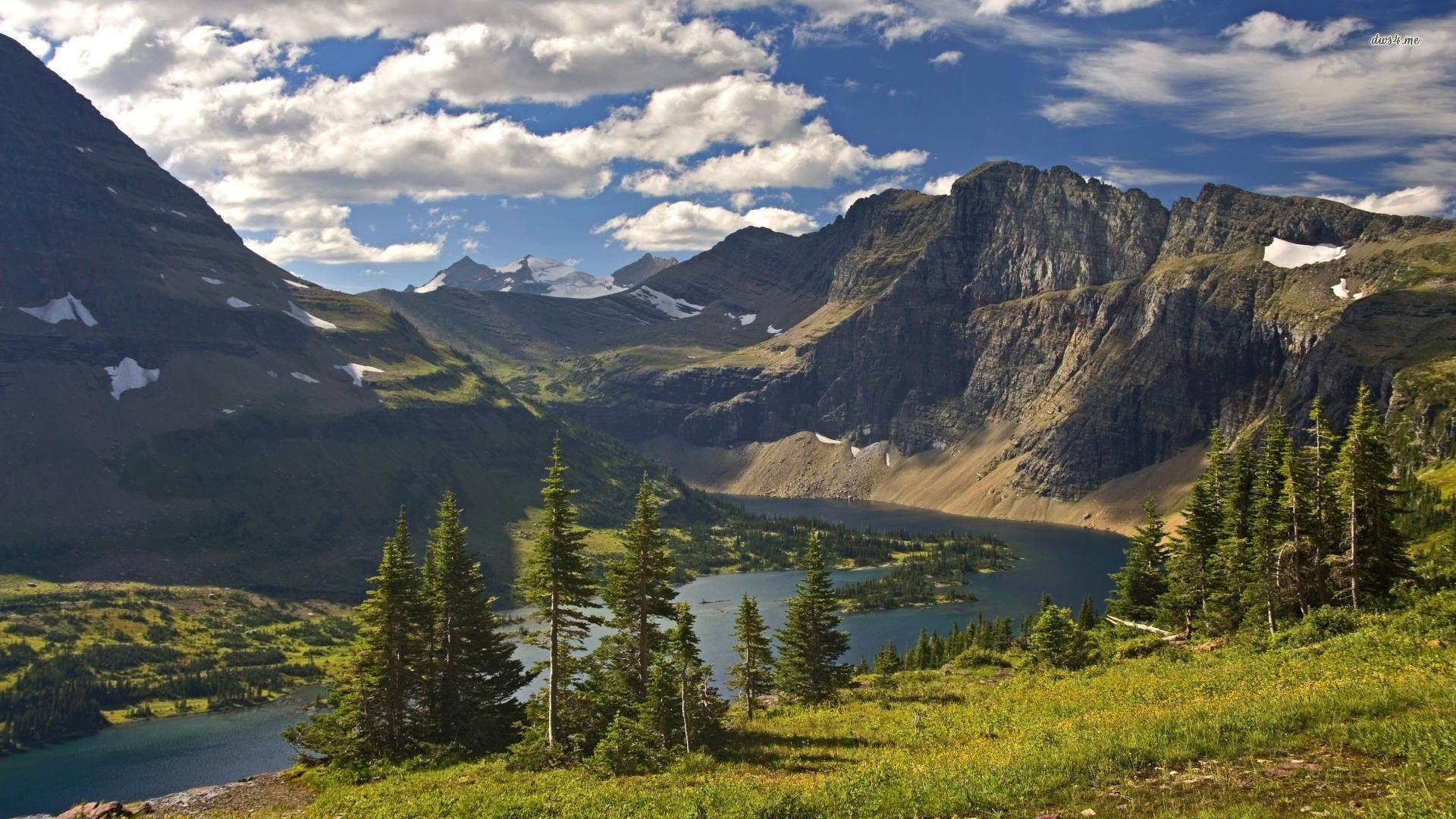 Glacier National Park Usa Hd Wallpaper Montana Nature