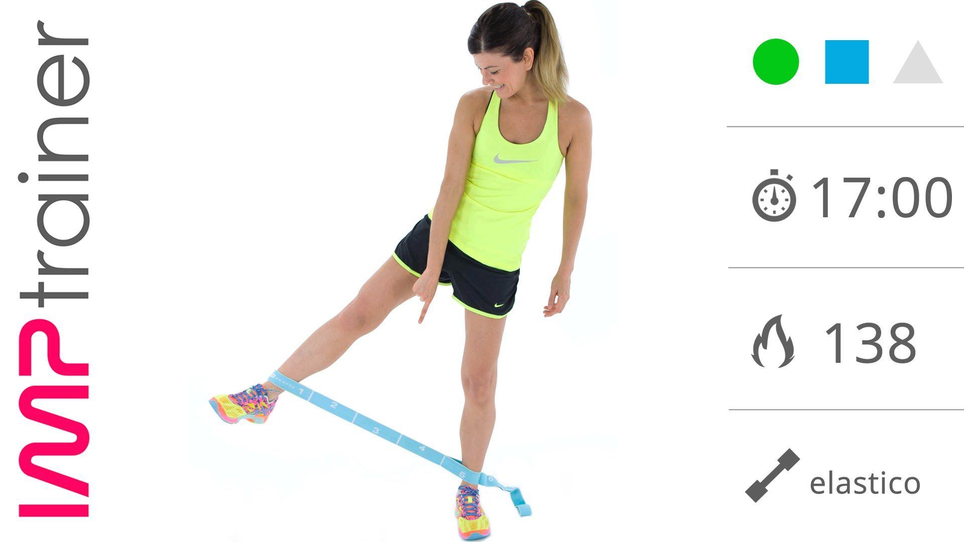 Esercizi interno coscia con l elastico in piedi e a terra for Interno coscia rassodare