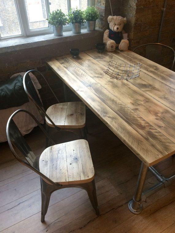 Table A Manger Planche Recupere Echafaudage 5 X 3 Par