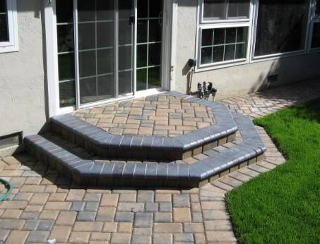 Steps And Porches Pavers Walkways Paver Steps Interlocking Pavers