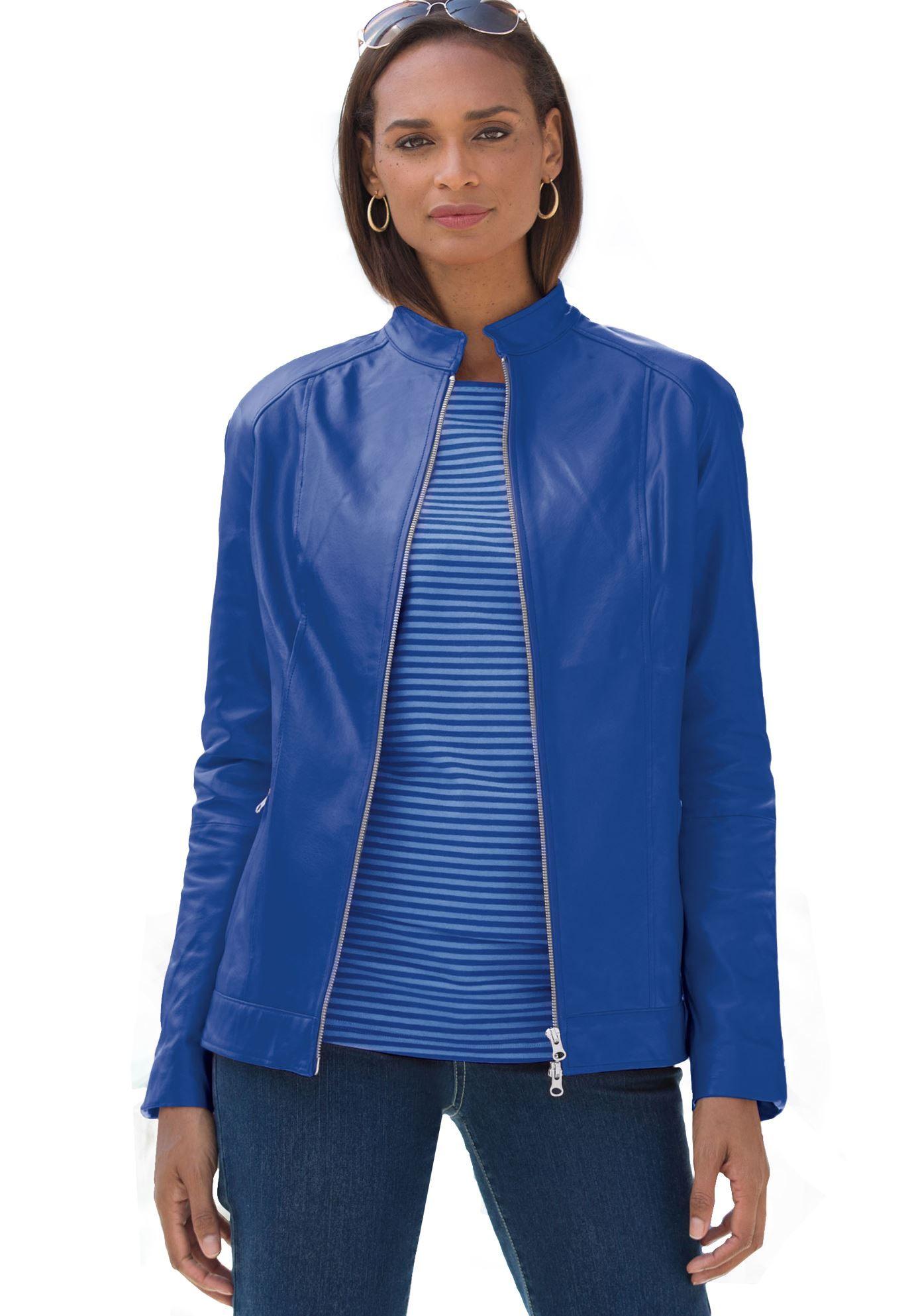 Plus Size Leather Jacket Plus size leather jacket, Big