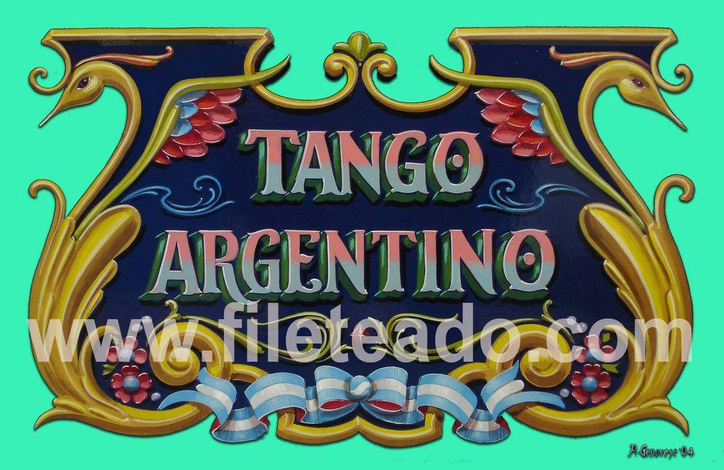 https://flic.kr/p/8kCGQe | Tango Argentino | 48 x 30 cm Esmalte Sintetico sobre hardboard  agfileteado@yahoo.com.ar  VENDIDO