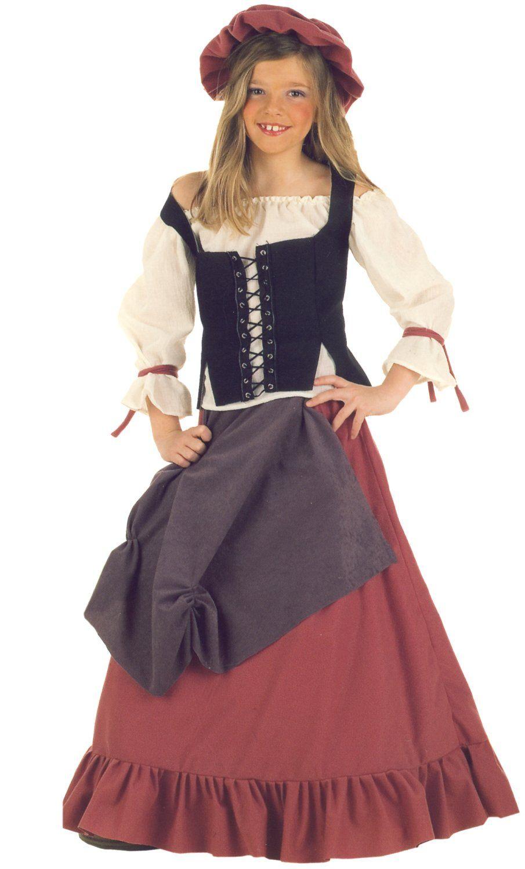 Déguisement Hôtelière Sibila pour fille. Costume Médiévale D11 5eb9b85ad31b