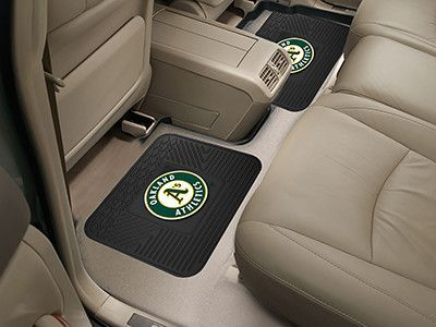 "Oakland Athletics Backseat Utility Mats 2 Pack 14""x17"""
