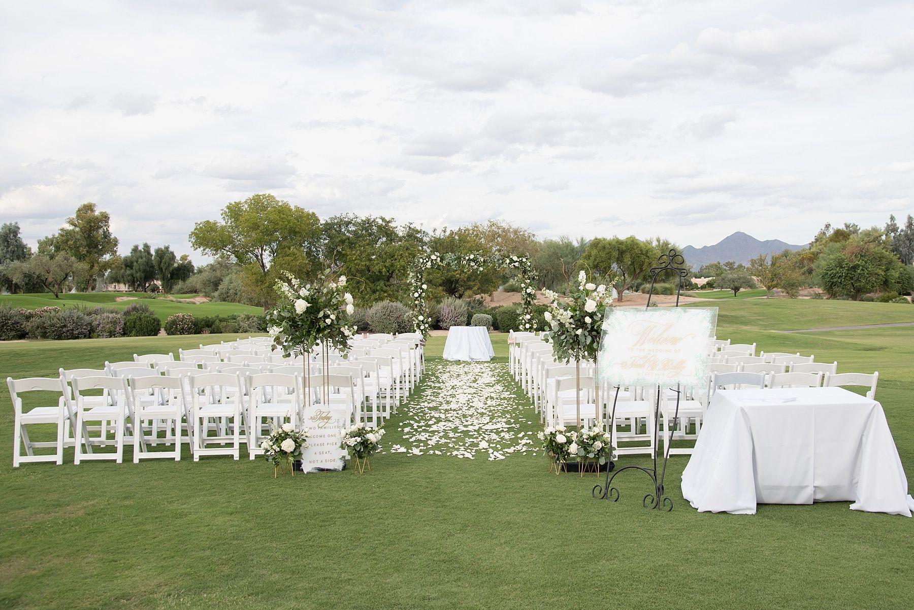 Golf course wedding ceremony site golf course wedding