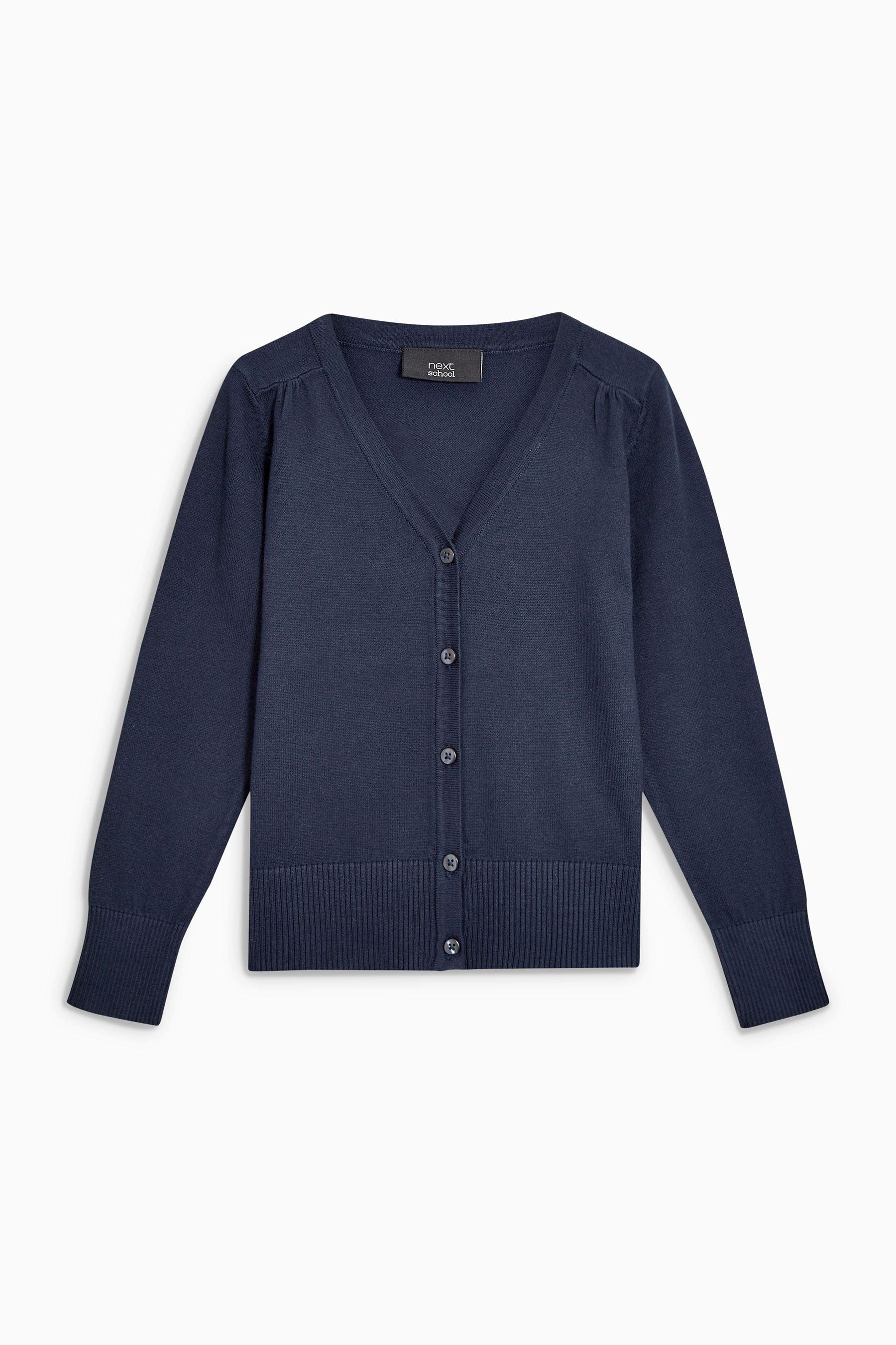 Girls Next Navy V Neck Cardigan Two Pack (3 16yrs) Blue