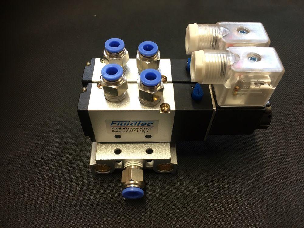 Details about 4V21008 2 station pneumatic solenoid valve