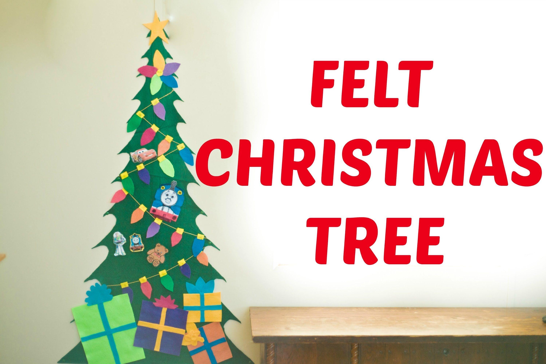 make your own felt christmas tree