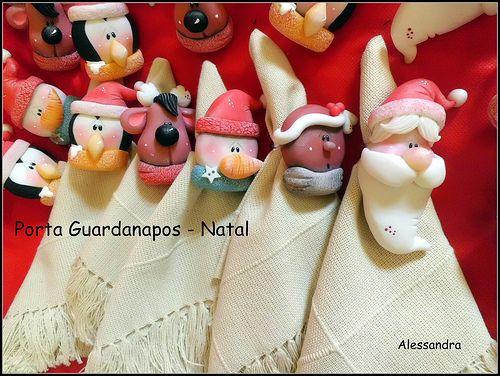 Weihnachtliche Serviettenhalter
