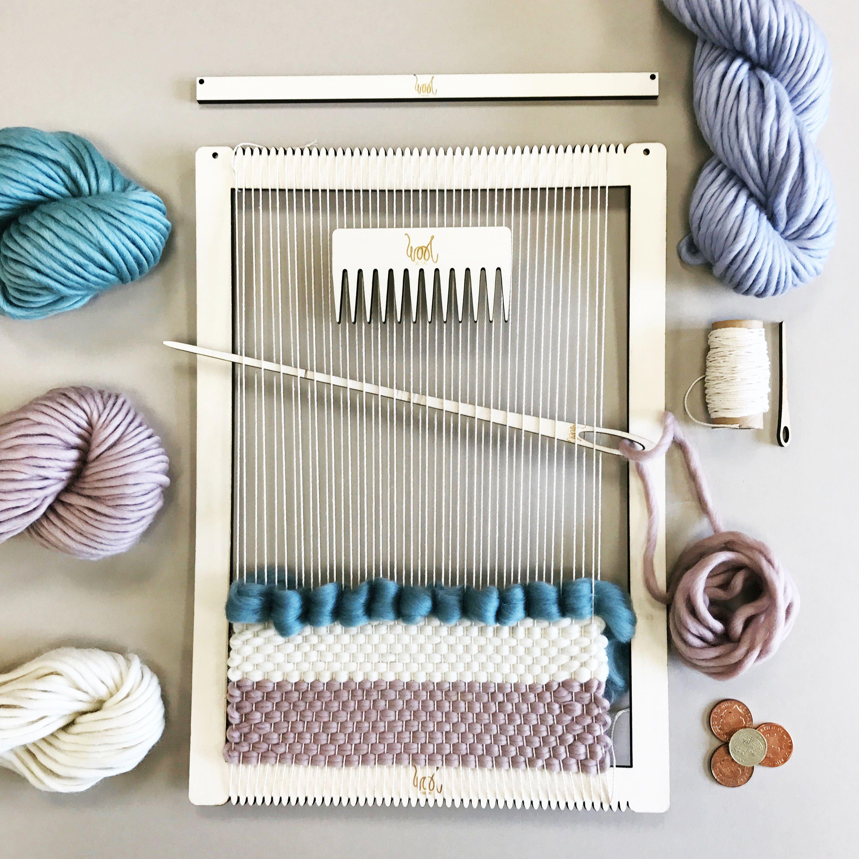 Tapestry weaving frame 33cm X 30cm.
