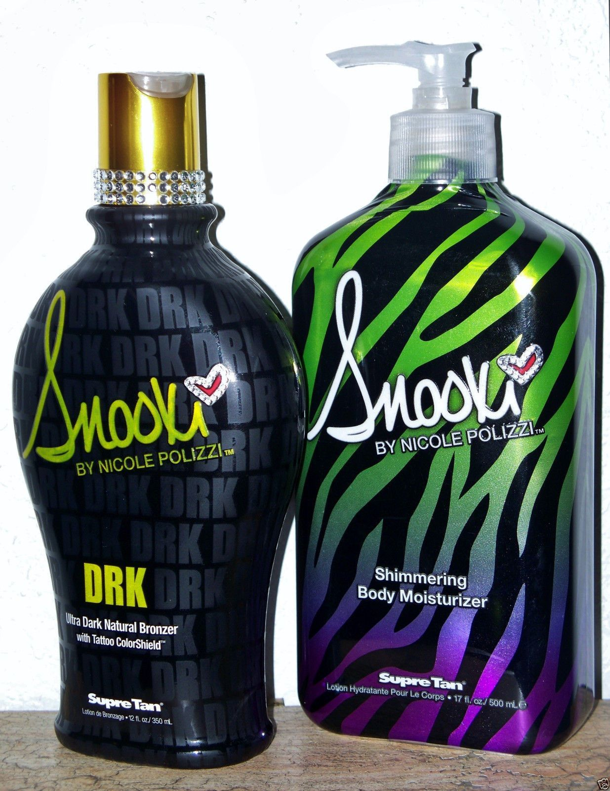 2 Snookie Dark natural tanning moisturizing lotion