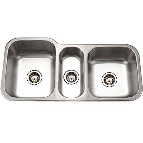 Houzer Mgt 4120 1 Medallion Gourmet Series Undermount Stainless Steel Triple Bowl Kitchen Sink Kitchen Sinks U Stainless Steel Kitchen Sink Sink Kitchen Sink