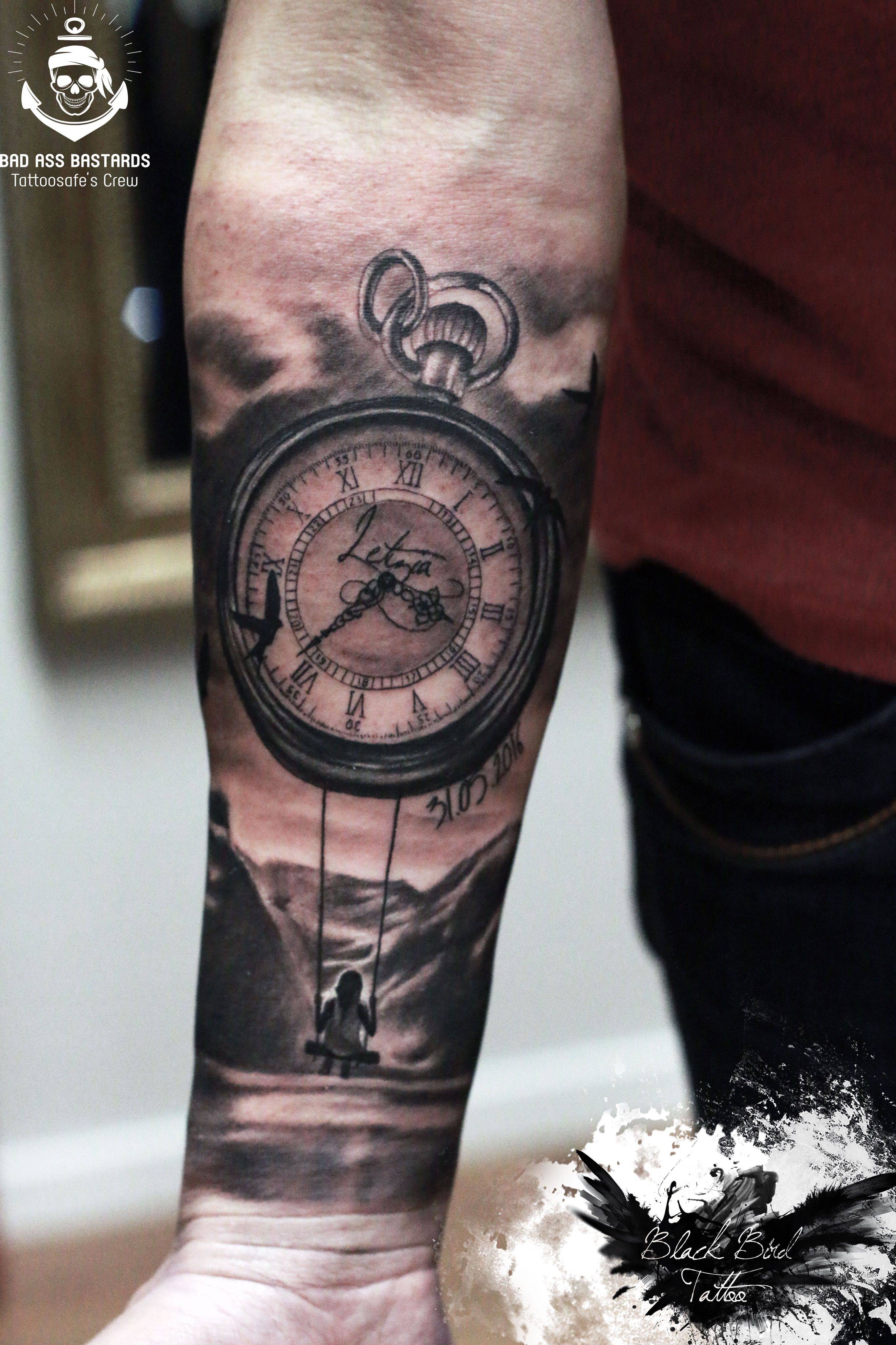 Mountain clock tat ideas tattoos sleeve tattoos tattoos for guys for Mountain watches