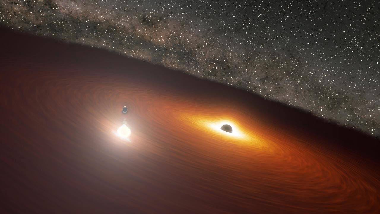 Astronomie Komplizierter Tanz Zweier Schwarzer Locher Entschlusselt In 2020 Schwarzes Loch Astronomie Weltraumteleskop
