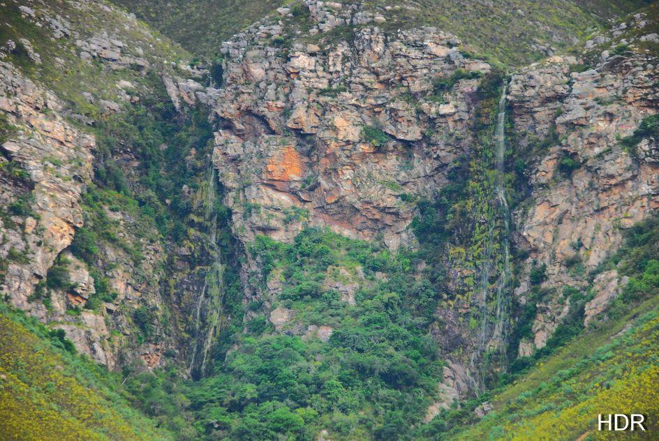 Three waterfalls in one spot just east of Hermanus, South Africa.