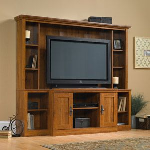 Sauder Harvest Mill Home Theater For Tvs Up To 47 Abbey Oak