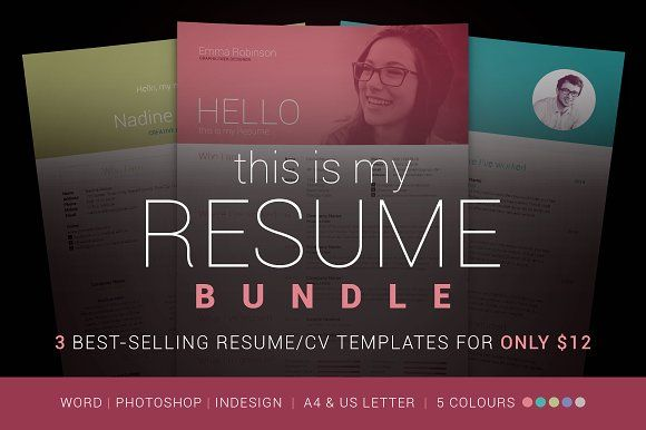 My Resume Bundle @graphicsmag Resume Templates Pinterest - making a resume cover letter