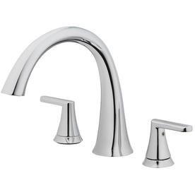 Jacuzzi Stretto Chrome 2 Handle Commercial Deck Mount Roman Bathtub Faucet 73 Brt2 J Faucet Roman Tub Faucets Tub Faucet