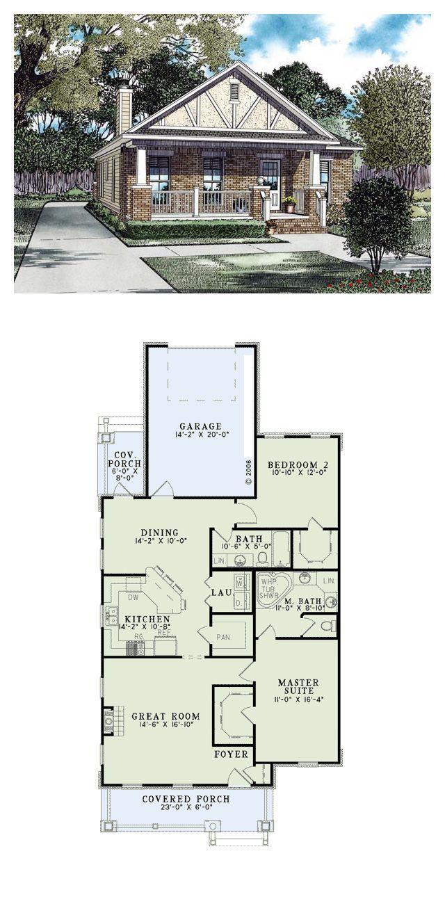 Tudor Style House Plan 82291 With 2 Bed 2 Bath 1 Car Garage Dream House Plans House Plans Cottage Plan