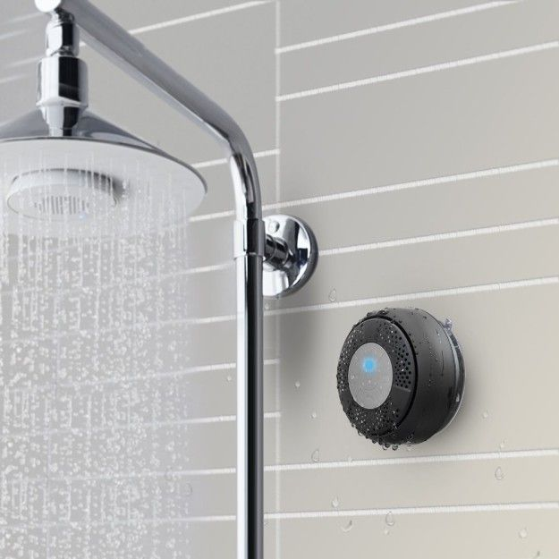 This Sleek Shower Speaker That Will Drown Out All The Noise