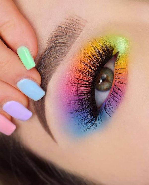 17 Maquiagens Arco Íris – Super Coloridas – Acho Tendência
