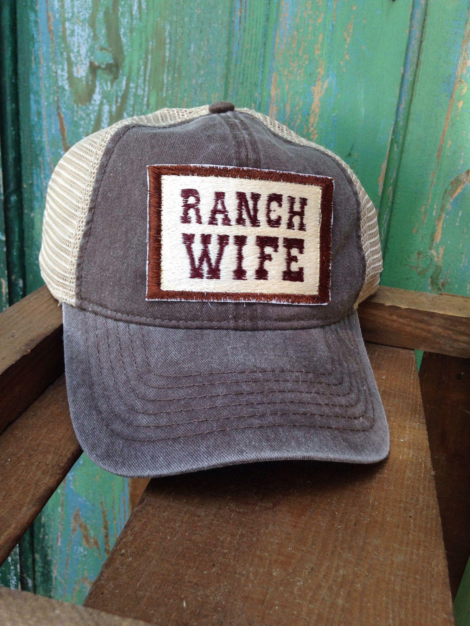 7b2fd7e8916 XYZ-Ranch Wife Worn Brown Trucker Hat