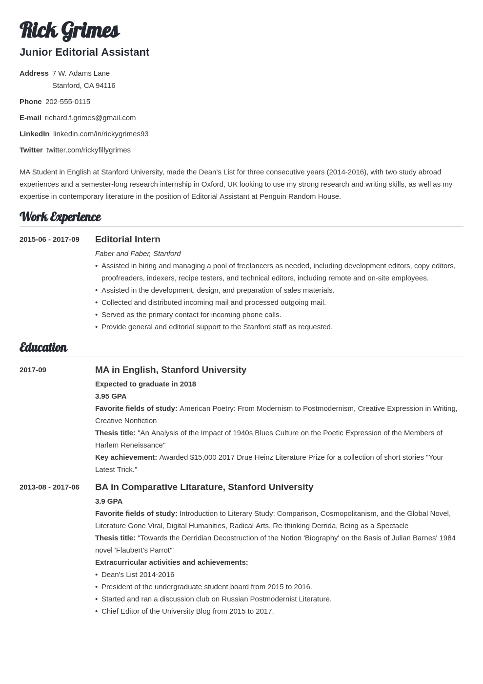 graduate cv template valera in 2020 Student cv examples
