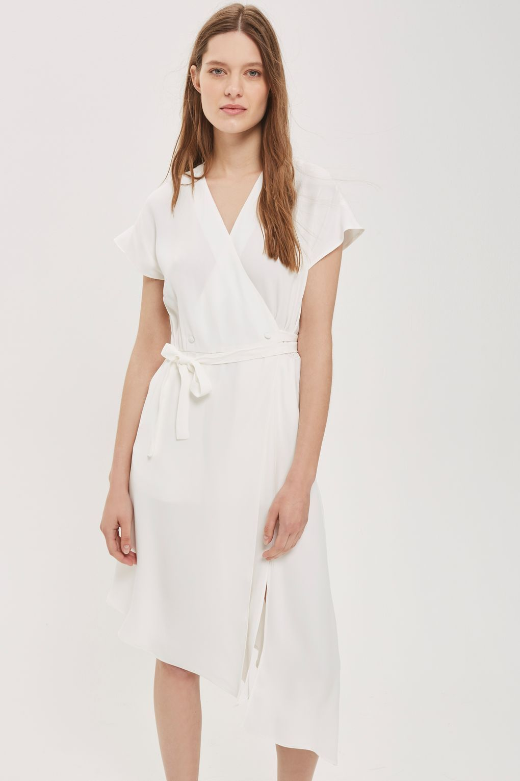 58ca2b38 Asymmetric Hem Midi Dress | Clothes+ | Dresses, Fashion, Topshop