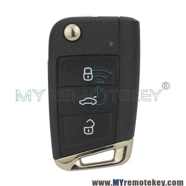 Oem 5g0 959 752 Ag Flip Remote Car Key 3 Button 433mhz For Vw Golf