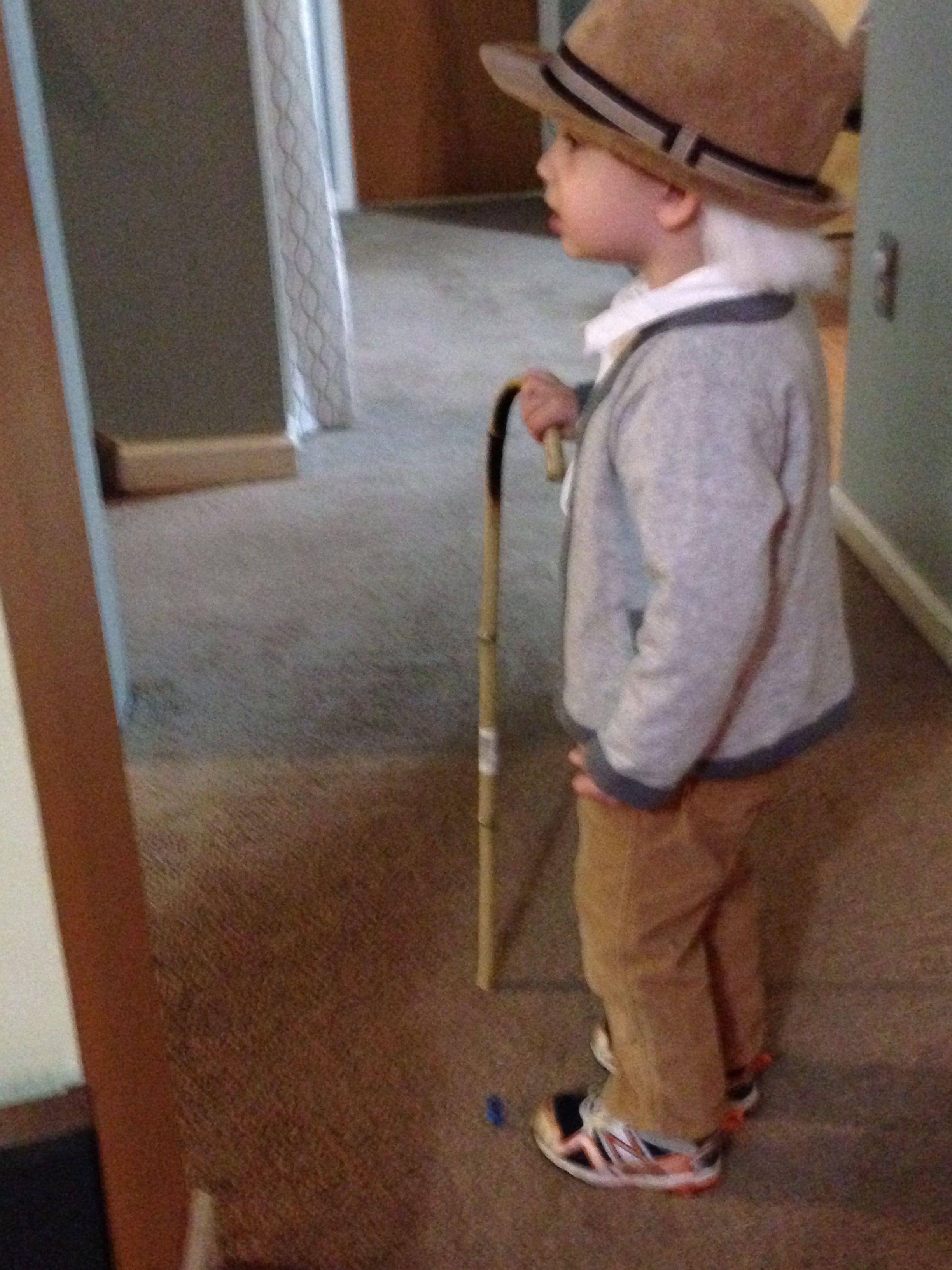 Diy Toddler Old Man Costume