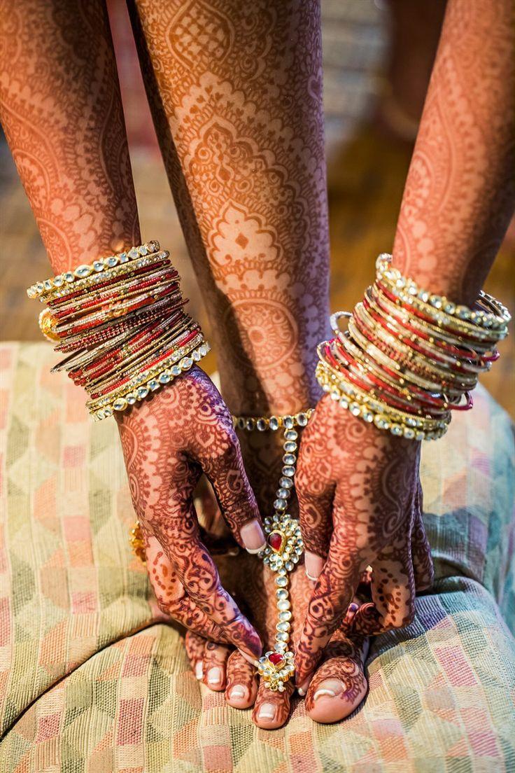 Beautiful bridal henna | California Indian Wedding by IQPhoto Studio