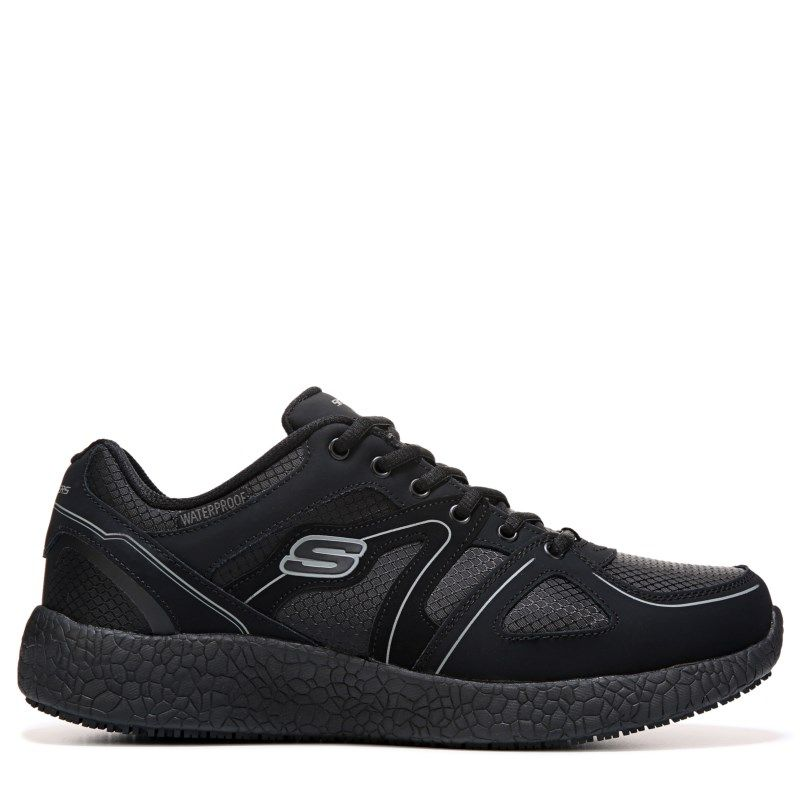skechers black shoes for men
