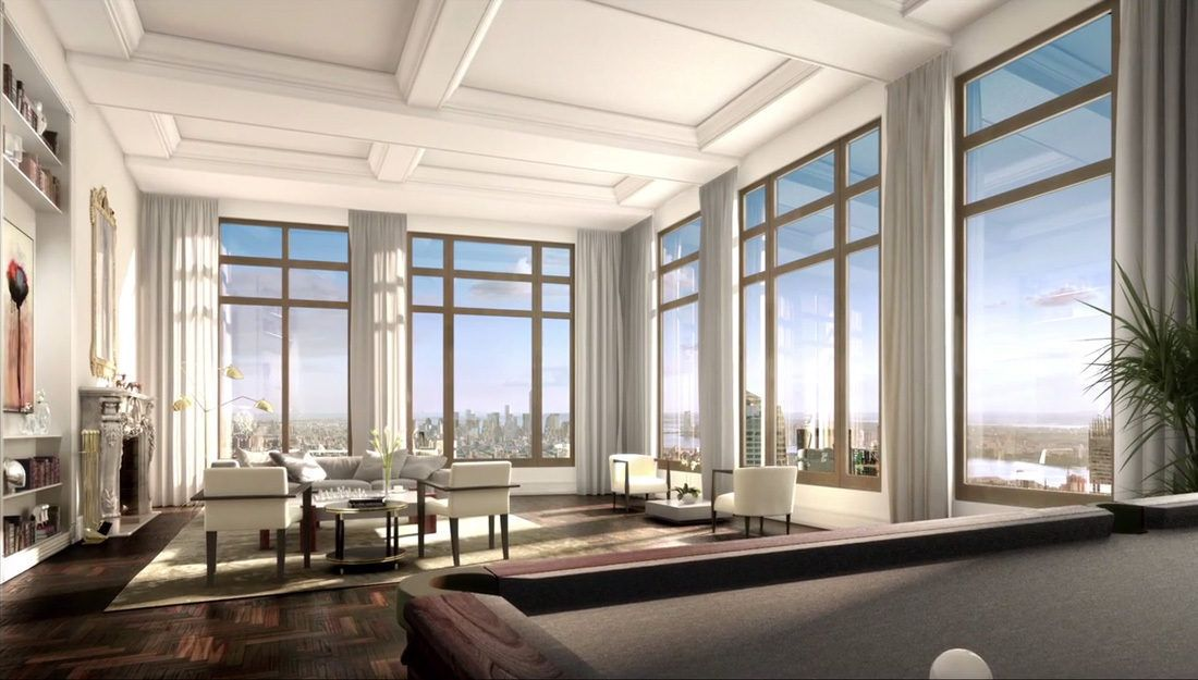 220 Central Park South Rendering New York Usa Nyc Penthouse