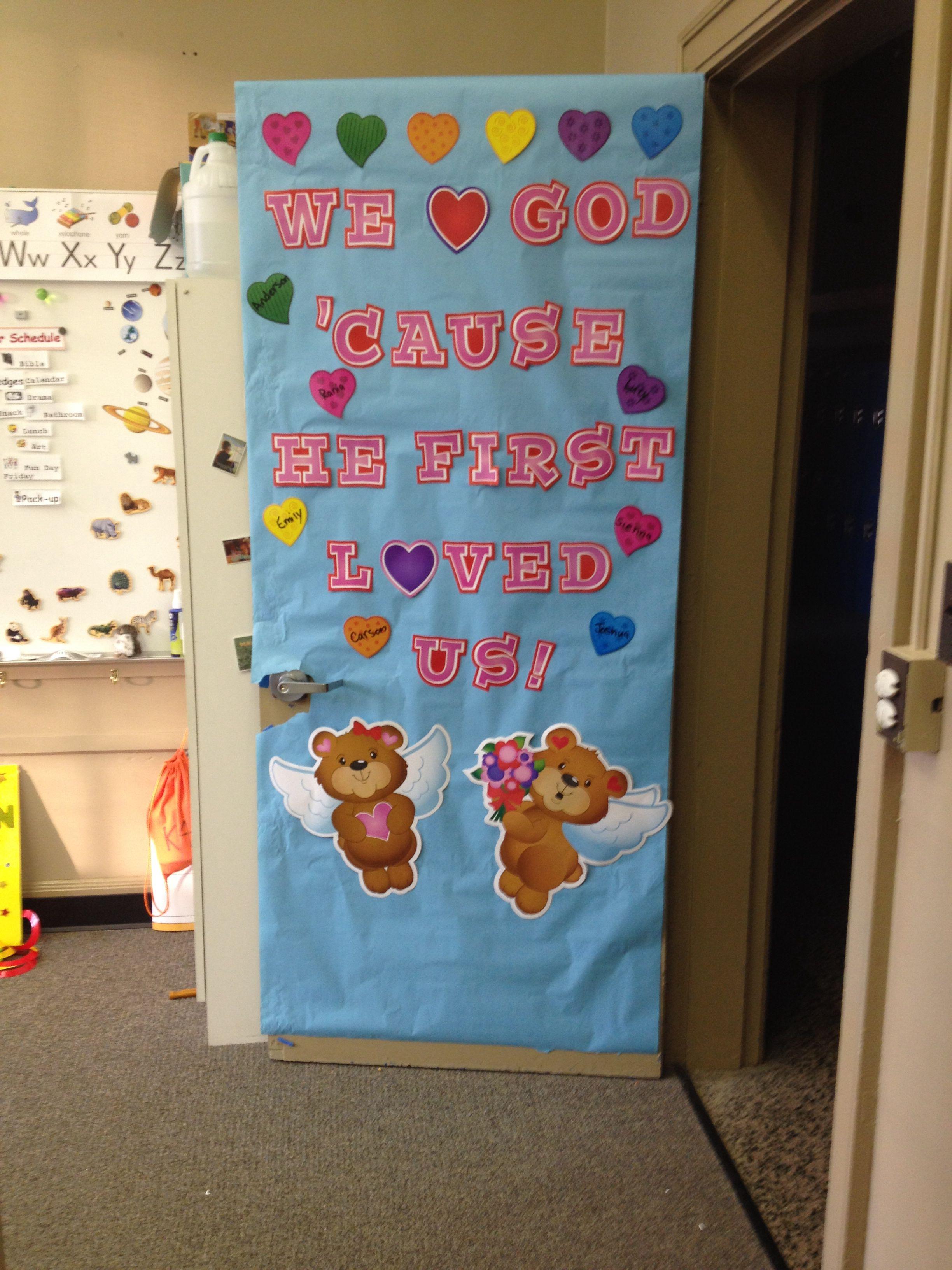 Alternate Valentine S Door Decor For A Christian School Bulletin