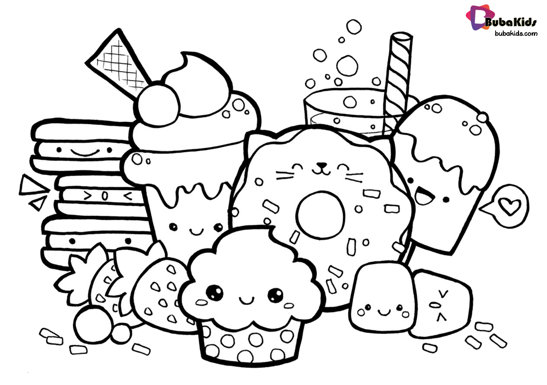 Pin By Christina Hendricks On Diner Cute Coloring Pages Food