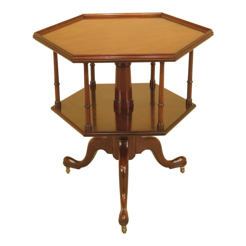 Kittinger Cw 161 Colonial Williamsburg Octogonal Mahogany Table In