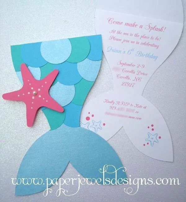 Mermaid Tail Invitation So Cute Paperjewelsdesigns