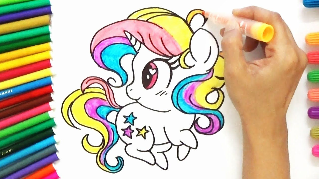 How to draw a cute pony unicorn for kids d4k