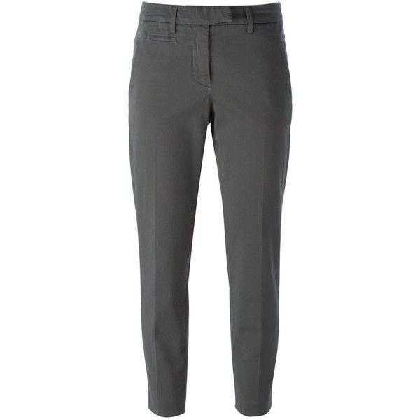 Dondup Chino Trousers featuring polyvore, fashion, clothing, pants, grey, chinos pants, chino trousers, gray pants, grey pants and chino pants