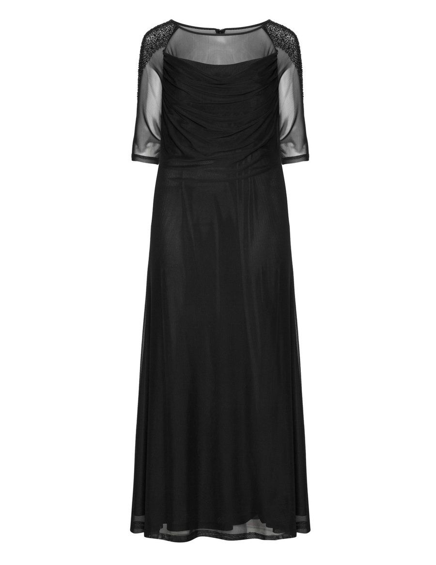 Weise pearl embroidered maxi dress in black ropa linda pinterest